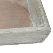 Holztablett Grau 57cm x 17cm