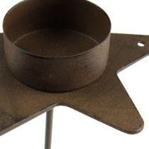 Teelichthalter Stern zum Stecken Braun