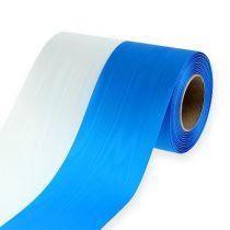 Kranzbänder Moiré Blau-Weiß 150 mm