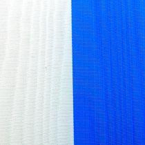 Kranzbänder Moiré Blau-Weiß 75 mm