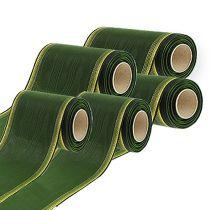 Kranzband Moiré dunkelgrün