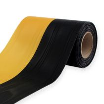 Kranzbänder Moiré Gelb-Schwarz 125 mm