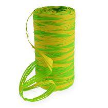 Raffia-Band Bicolor Grün-Gelb 200m