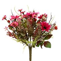 Blumenstrauß mit Beeren Pink Ø20cm H24cm