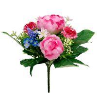 Blumenstrauß mit Bellis Rosa 23cm