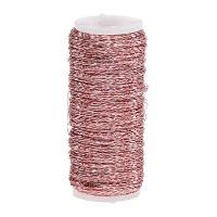 Bouilloneffektdraht Ø0,30mm 100g/140m Rosa