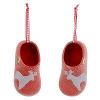 Deko-Pantoffel 13cm Rot 4St