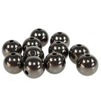 Deko-Perlen anthrazit metall effekt 14mm 35St