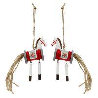 Deko-Hänger Pferd Rot-Weiß 20cm 6St