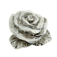 Deko Mini Rosen 4cm Grau 12St