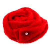 Filz-Rose Rot Ø6cm 9St