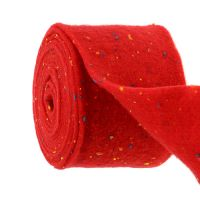 Filzband Rot mit Punkten 15cm 5m