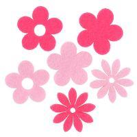 Filzblume Rosa, Pink 3,5cm 96St