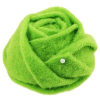 Filz-Rose Grün Ø8cm H4,5cm 6St