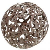 Gartendeko, Metallkugel Rost Ø18,5cm