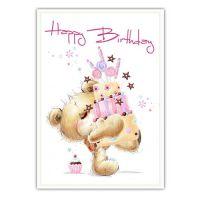 """Geburtstagskarte """"Happy Birthday"""" 5St"""