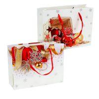 Geschenktüte für Weihnachten 26 x 20cm x 9cm 2St