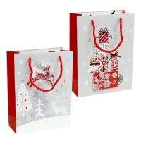 Geschenktüten Set mit Weihnachtsmotiv 24x18cm 2St