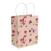 Geschenktüten mit Blumen 20cm x 11cm x 25cm 6St