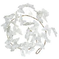 Girlande mit Schmetterlingen Weiß 154cm