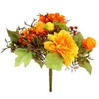 Herbststrauß mit Dahlien 30cm orange