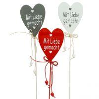 Dekostecker Herz Mit Liebe H27cm 18St