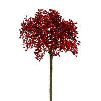 Holunderblütenzweig Rot 55cm 4St