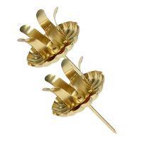 Kerzenhalter für Spitzkerzen Gold 4St