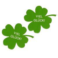 """Kleeblatt """"Viel Glück"""" Grün 6cm 24St"""