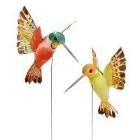 Kolibri mit Draht 5,5cm L22cm sortiert 12St