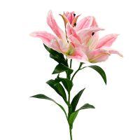 Künstliche Lilie Pink Real Touch 100cm