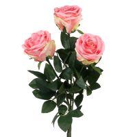 Kunstblume Rose gefüllt pink Ø10cm L65cm 3St