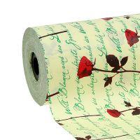 Manschettenpapier 25cm 100m Creme Rose
