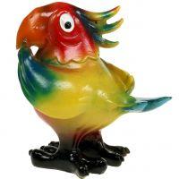 Papagei Figur 11,5cm bunt 1St