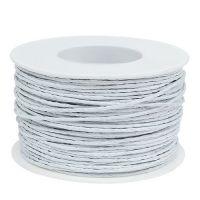 Papierdraht Weiß 2mm 100m