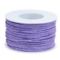 Papierkordel Draht umwickelt Ø2mm 100m Lavendel