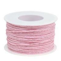 Papierkordel Draht umwickelt Ø2mm 100m Rosa