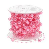 Perlenband Rosa 6mm 15m