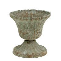 Pokal klein Grau gewaschen Ø8,5cm H8,2cm