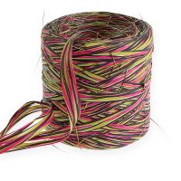 Raffia-Band Multicolor Pink-Grün 200m