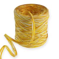 Raffia-Band Multicolor Gelb-Ocker 200m