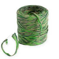 Raffia-Band Multicolor Grün-Natur 200m