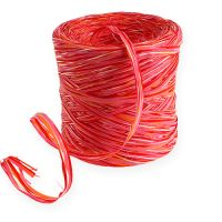 Raffia-Band Multicolor Rosa-Rot 200m