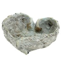Schale Herzform Grau 20cm x 18cm H7,5cm 1St