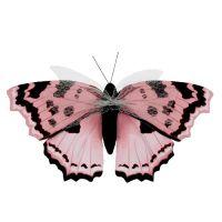 Schmetterling Rosa 20cm am Draht 2St