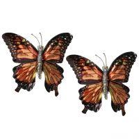 Schmetterlinge mit Clip Braun 6St