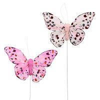 Schmetterling 10cm Rosa 12St