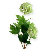 Schneeball, Seidenblumen Weiß 47cm