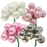 Spiegelbeeren Mix Ø25mm Rosa, Weiß, Silber 144St