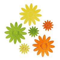 Streudeko Holzblumen Sortiment 3-farbig 72St